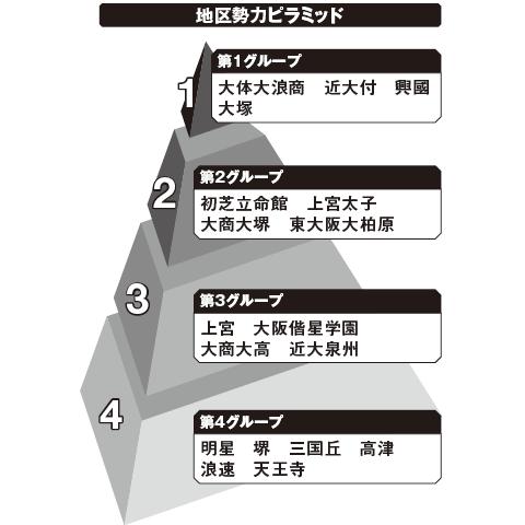 南大阪 勢力ピラミッド